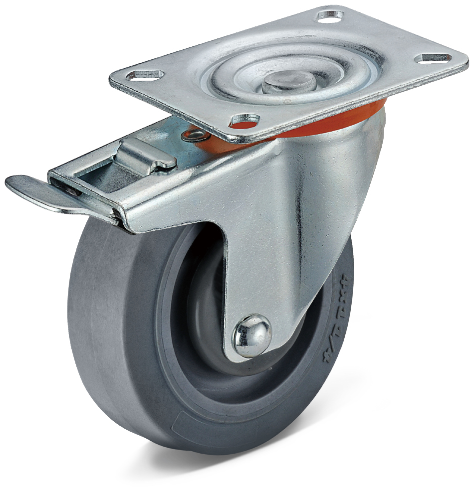 TPR Integrated Double Brake Casters