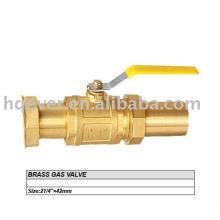 New style brass gas valve
