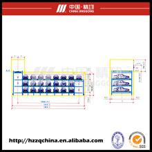 Garage stéréo automatique commercial idéal, stationnement cyclique multi-plate-forme