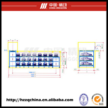 Garagem estereofónica automática comercial ideal, estacionamento cíclico do carro da Multi-plataforma