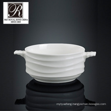 hotel ocean line fashion elegance white porcelain soup bowl PT-T0600