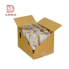 O costume por atacado em massa imprimiu os vidros de vinho da forma que empacotam a caixa