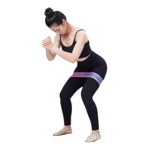 Custom Logo Strength Cotton Elastic Fitness Exercise Fabric Workout Loop Yoga Resistance Band