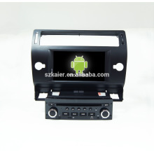 Quad core! Voiture dvd avec lien miroir / DVR / TPMS / OBD2 pour 7inch écran tactile quad core 4.4 Android système Citroen C4 (Noir)