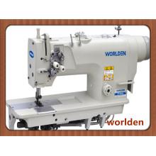 Máquina de costura de alta velocidade dupla agulha simples agulha Bar mini óleo pespontos com gancho padrão Wd - 8420 d