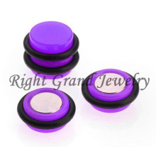 10mm Neon cor Fake Piercings magnéticos