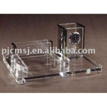 кристально украшения рабочий стол с часами /держатель ручки/держатель карты