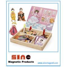 Девушки одеваются магнитные деревянные переодеться головоломки игрушки