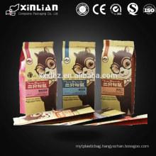 Quad seal paper kraft bag/side gusset bag for snack food