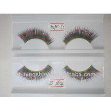 2015 hot design DIY free sample star color false paper eyelashes