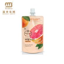 Reusable Food Grade Custom Design Plastic Fruit Juice Packaging Doypack With Spout Cap
