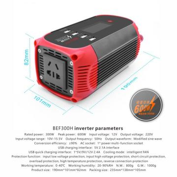 Инвертор 300W Digital LED мгновенно предоставляет информацию