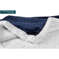 Coperta in pile Sherpa plaid letto matrimoniale per adulti