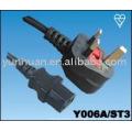 Vends alimentation cordon Set Made in China - Iec C13 C14, rallonge euro euro jeu de câbles, c13-UK plug, prise UK - C7