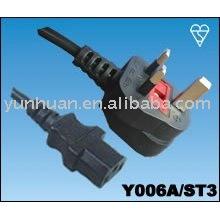 Vender energía Cable Set hecho en China - Iec C13 C14, prolongador euro, euro juego de cables, c13-UK enchufe, enchufe del Reino Unido - C7