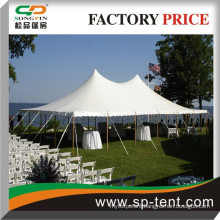 5% discount double Waterproof PVC fabric used canvas high peak wedding pole tents for sale 60 feet x 60 feet