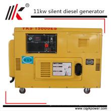 11kw 12kw 15kva Deutz silencioso generador diesel móvil 1kv eléctrico