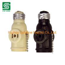 E26 Lamp Base Light Socket Lampholder with Pull Chain
