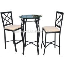 Mobiliário de sala de jantar com mesa de jantar com mesa de jantar de vidro temperado