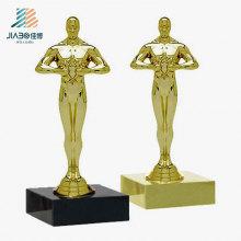 Regalo de promoción de artesanía personalizada Recuerdo de decoración de metal Oscar Gold
