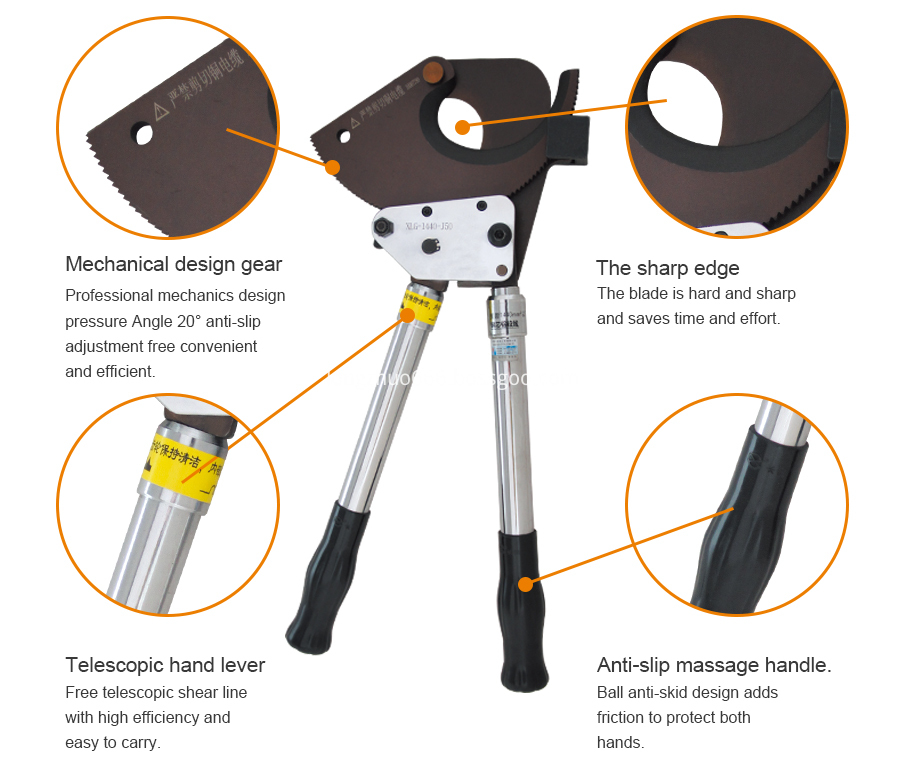 Electrical Equipment Ratchet Cable Cutter
