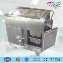 Thr-FC005 Chariot de dîner en acier inoxydable pour hôpitaux