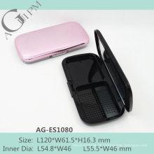 Charmante rechteckige kompakte Pulver Fall mit Spiegel AG-ES1080, AGPM Kosmetikverpackungen, benutzerdefinierte Farben/Logo