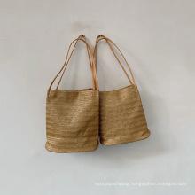 Ready to Ship Wholesale Vintage Ladies Tote Handbag Straw Purse Bucket Handbags