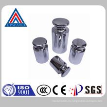 Altura de la marca de acero inoxidable Prueba Peso Calibración Peso Fabricante