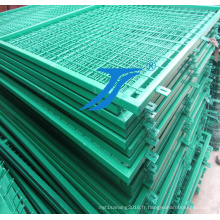 Barrière de treillis métallique soudée par atelier / clôture temporaire