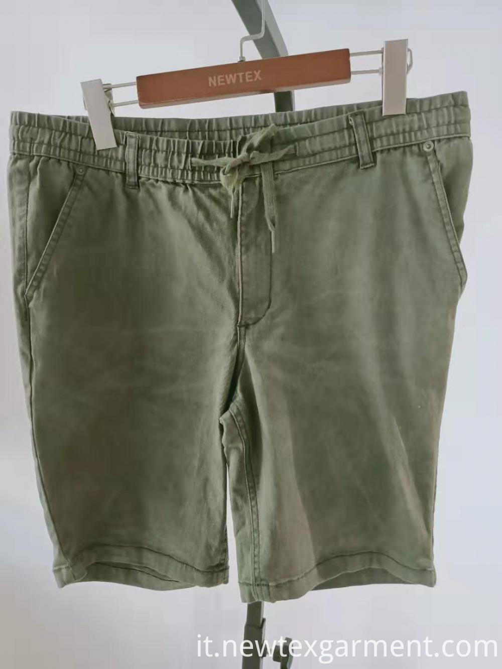 elastic waist mens shorts