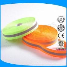 Material reflexivo colorido teia de nylon reflexiva colorida para vestuário de segurança