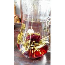 Roselle subió el té floreciente