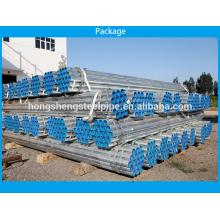 Tubos de acero galvanizado de inmersión en caliente de ERW fabricante