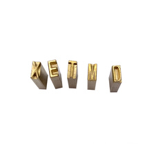 2*4*15mm / 2*3*15mm brass Letter numbers and alphabets hot stamping font