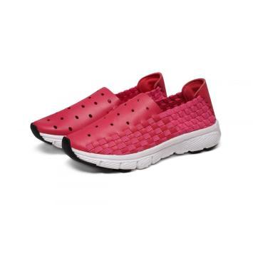 Plum Children's Microfiber Woven Shoes