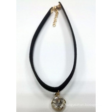 Simple Jewelry Choker Necklace with Charm with Rhinestone