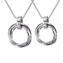 Chunky atacado personalizado aço inoxidável globo pingente de prata jóias