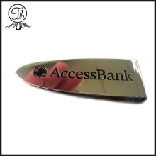 Reccessed Bank logo money clip metal