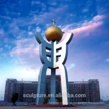 2016 Neue moderne Skulptur Abstrakte Skulptur Städtische Statue Erfolgreicher Fall