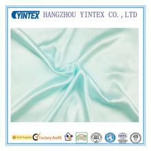 Tejido teñido de seda de 100% de color azul claro puro de mora