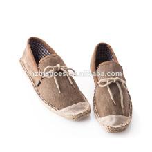 Новые прибытия мужчин джут обувь летом повседневная обувь с bowtie