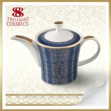 Service à thé en porcelaine moderne, bouilloire en porcelaine