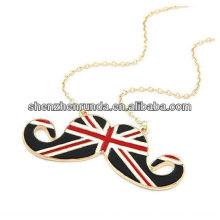 Joyas de acero inoxidable English Flag Pendant Gold Necklace