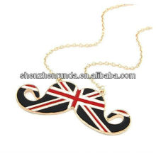 stainless steel jewelry English Flag Pendant Gold Necklace