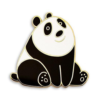Cute Panda Bear Enolel Lapel Pins Set