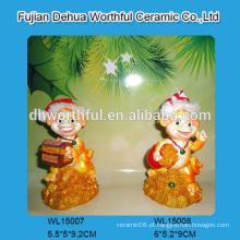 Handmade enfeites de Natal polyresin em alta qualidade