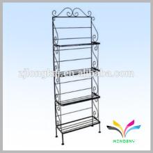 4-tier classical elegant metal wire black unique bathroom dsiplay shelf