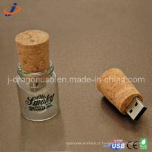 A forma do frasco de vidro USB Flash Drive (JW152)