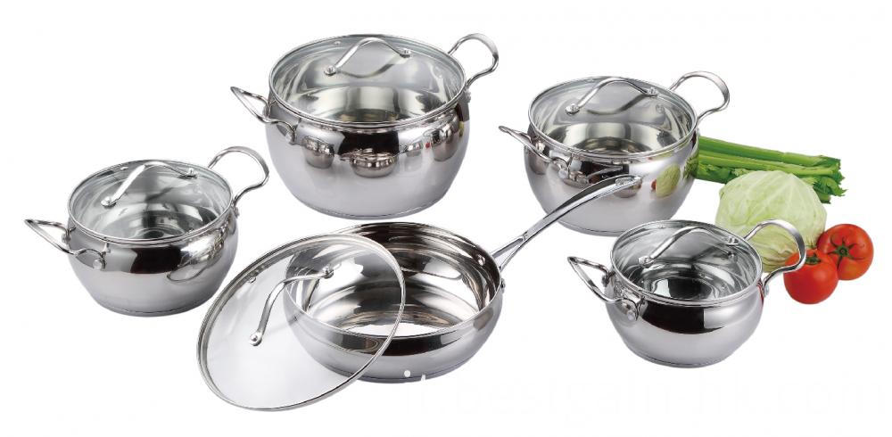 Stainless Steel Apple Shape Cooking Pots